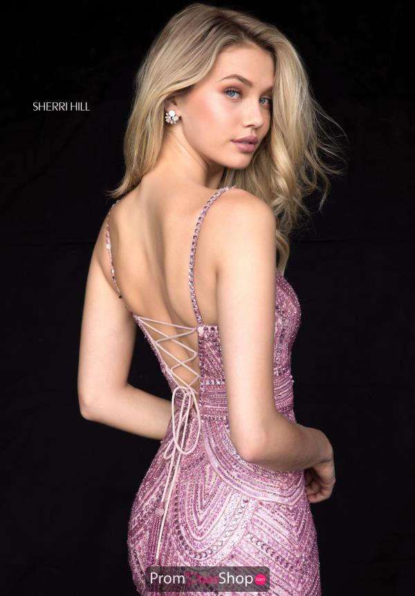 Sherri Hill Sexy Back Fitted Dress 52070