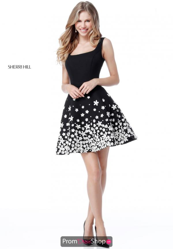 Sherri Hill Short Beaded Dress 51670
