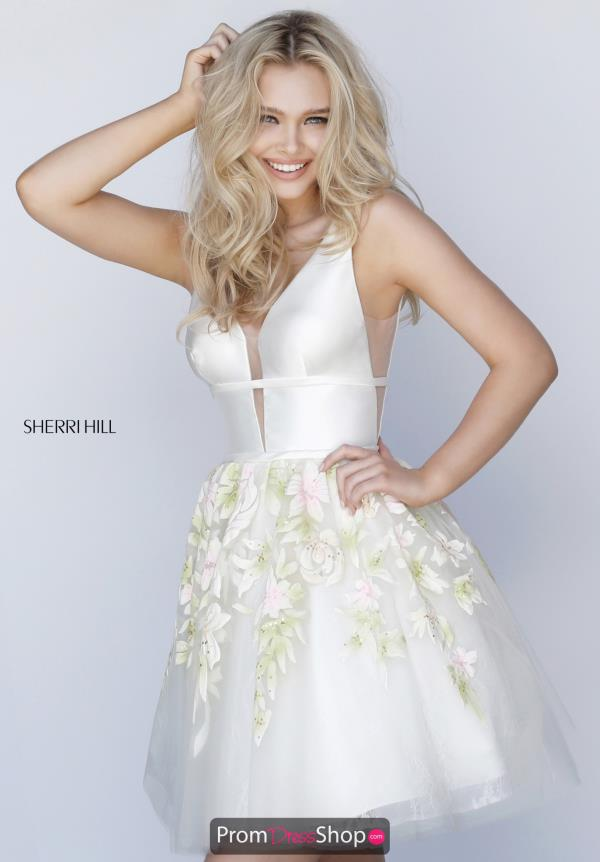 Sherri Hill Short Ivory Dress 51879