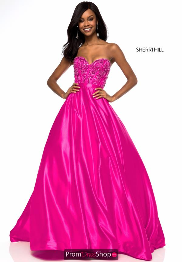 Sherri Hill Beaded A Line Dress 51820