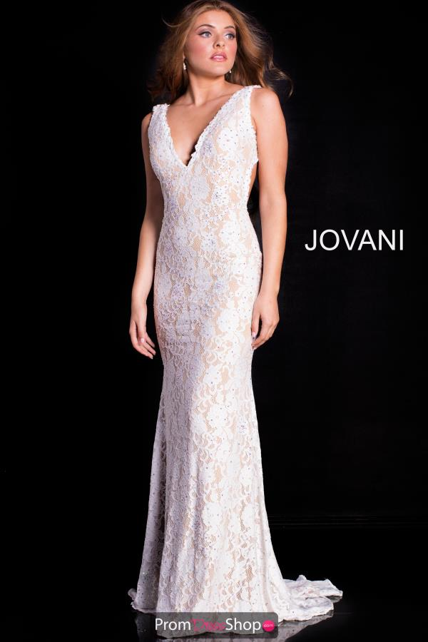 Jovani Fitted Lace Dress 48099