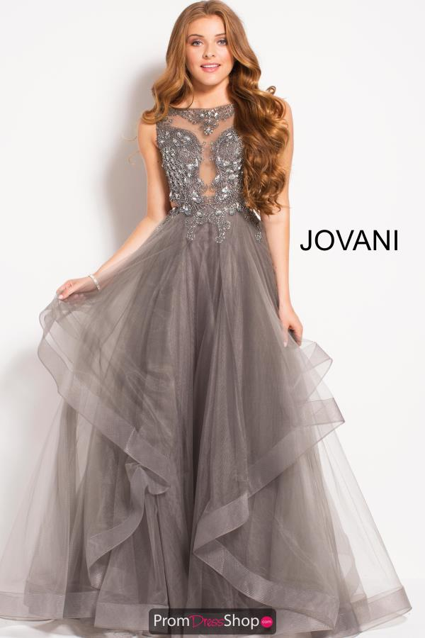Jovani Tulle Skirt A Line Dress 48739