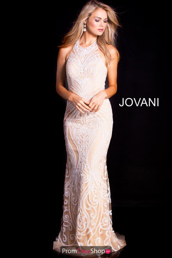 Jovani High Neckline Beaded Dress 49249