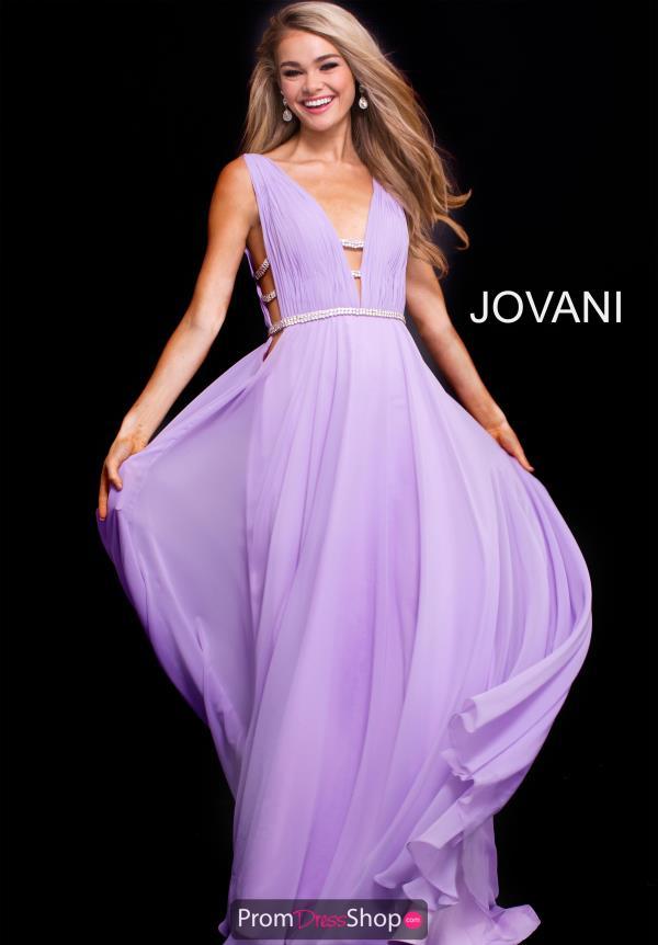 Jovani V- Neckline A Line Dress 51515
