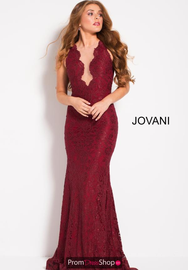 Jovani Open Back Fitted Dress 51847