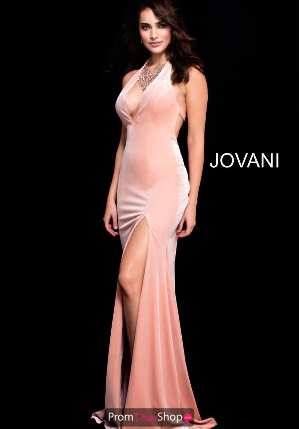 Jovani Halter Top Fitted Dress 52136