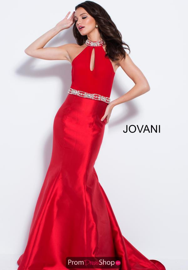 Jovani High Neckline Fitted Dress 53206
