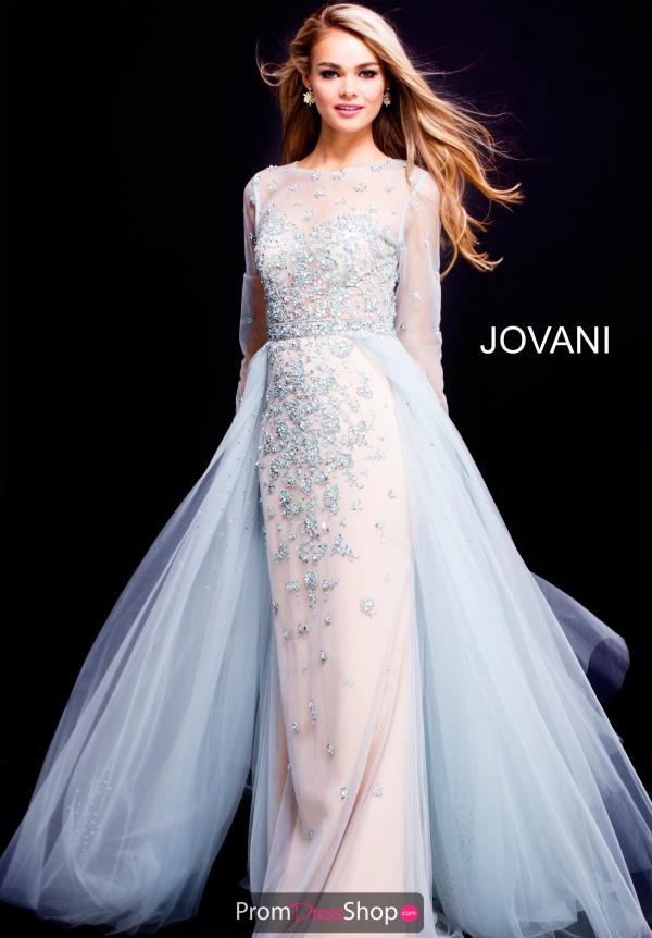Jovani Long Beaded Dress 53743