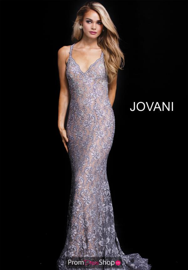Jovani Fitted Lace Dress 54853