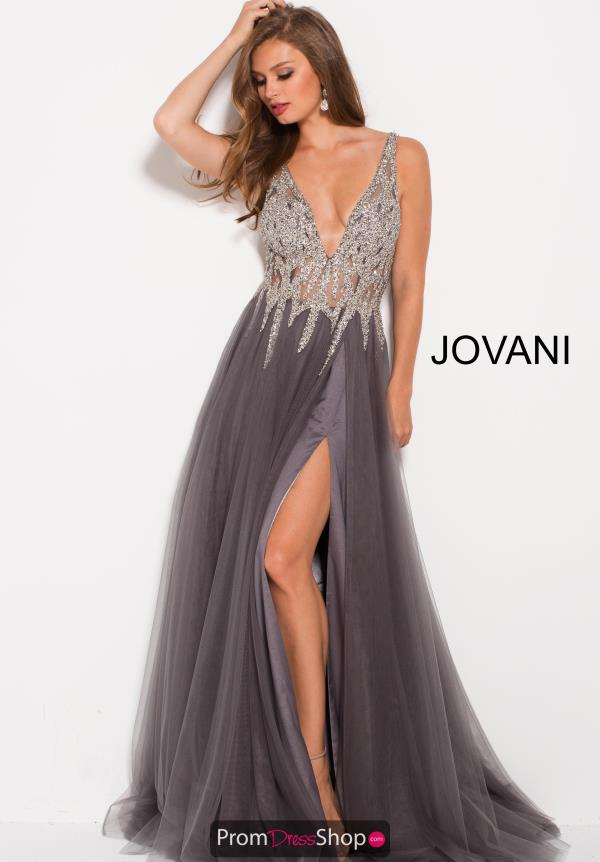 Jovani V- Neckline A Line Dress 54873
