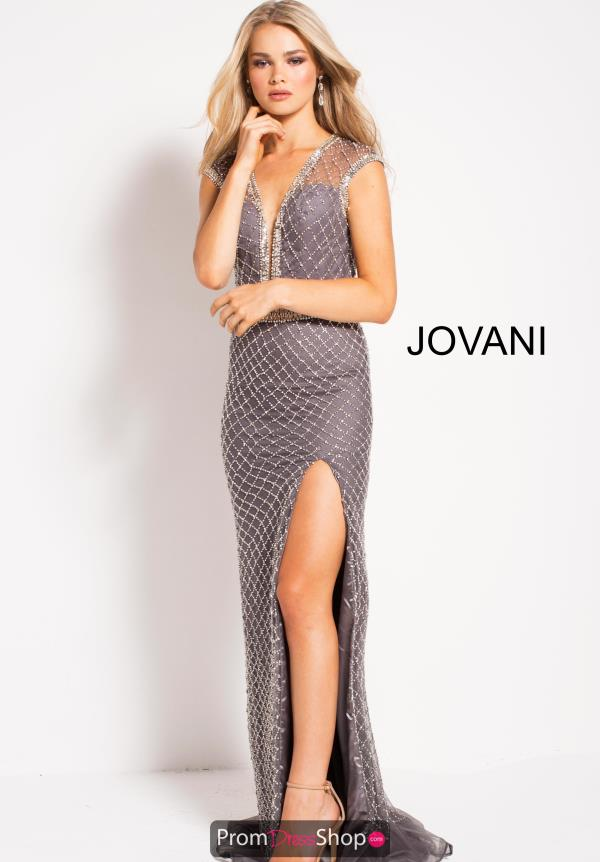 Jovani Sleeved Beaded Dress 54933