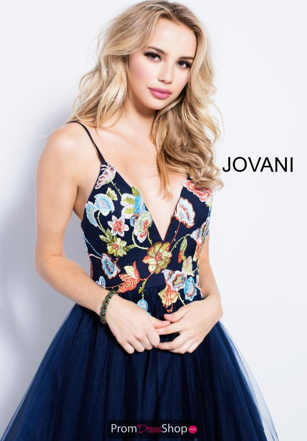 Jovani V- Neckline A Line Dress 54963