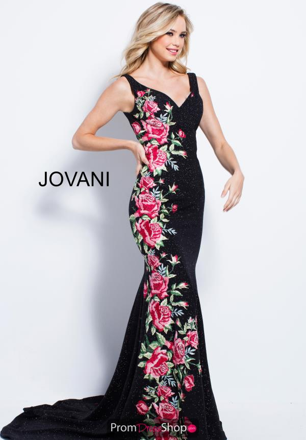 Jovani Long Print Dress 55055