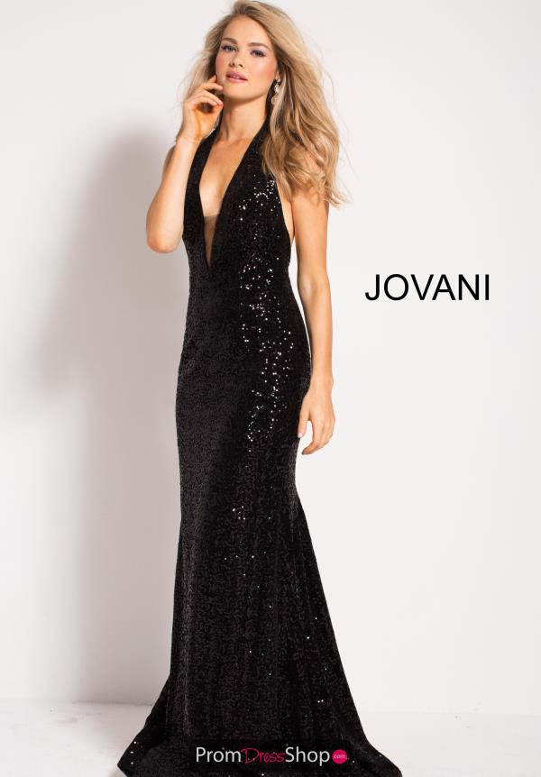 Jovani Long Black Dress 55295