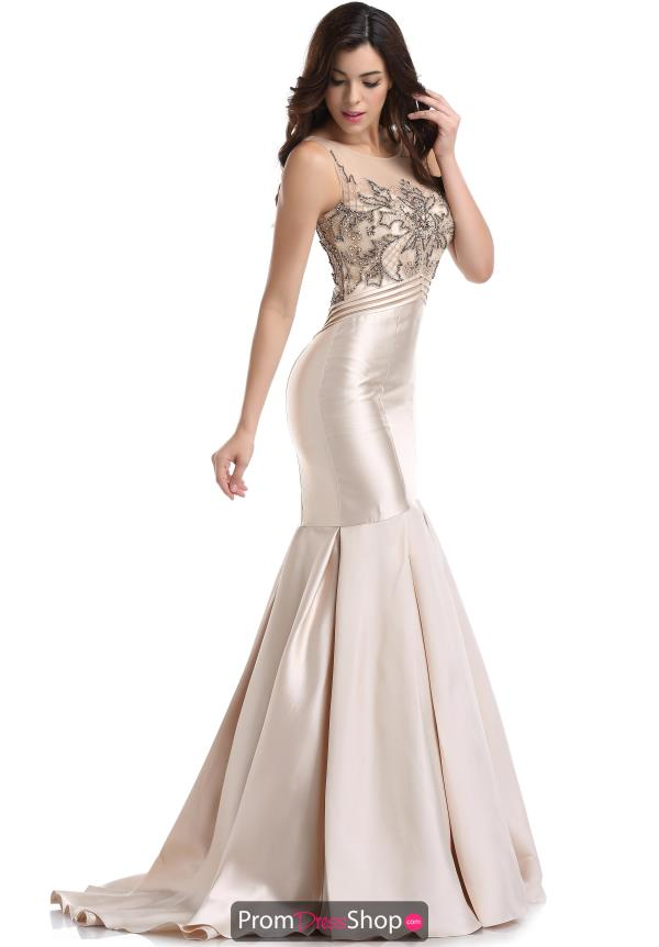 Romance Couture High Neckine Fitted Dress RM6051