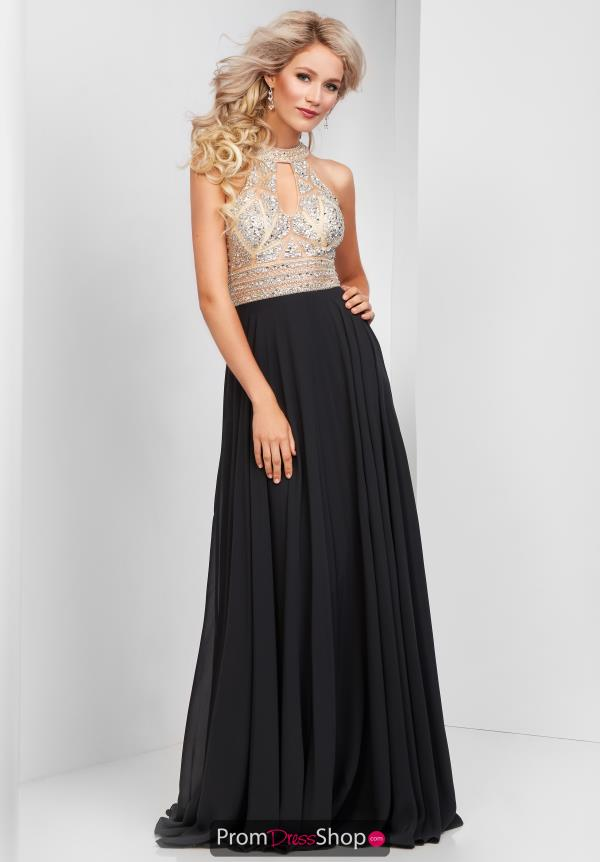 Clarisse High Neckline Beaded Dress 3087