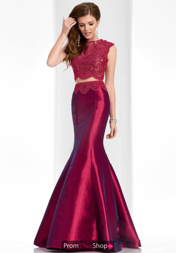 Clarisse High Neckline Mermaid Dress 3148