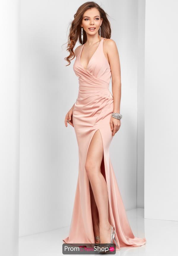 Clarisse V- Neckline Satin Dress 3456