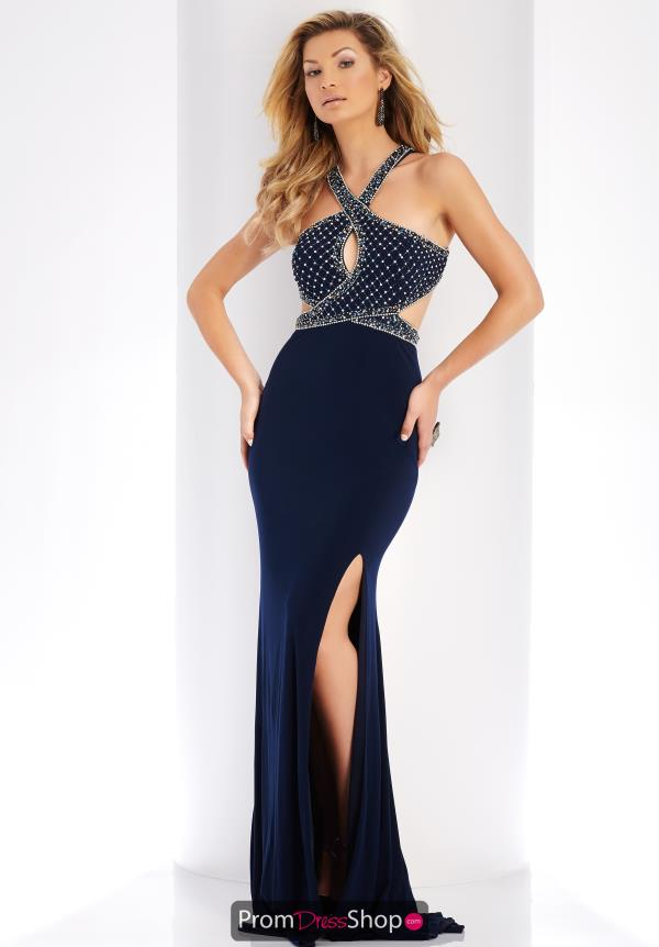 Clarisse Beaded High Neckline Dress 3512