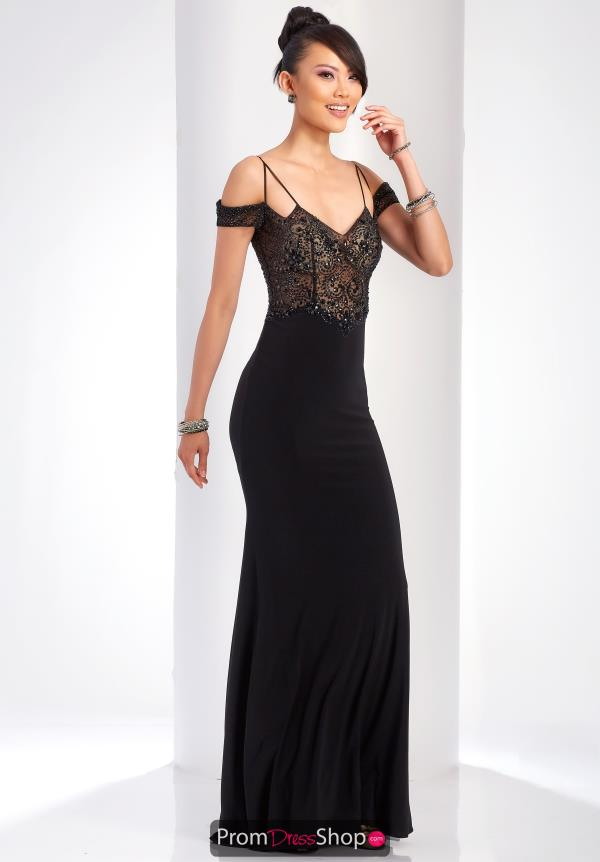 Clarisse Long Black Dress 3544