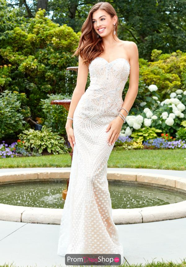 Clarisse Long Beaded Dress 4904