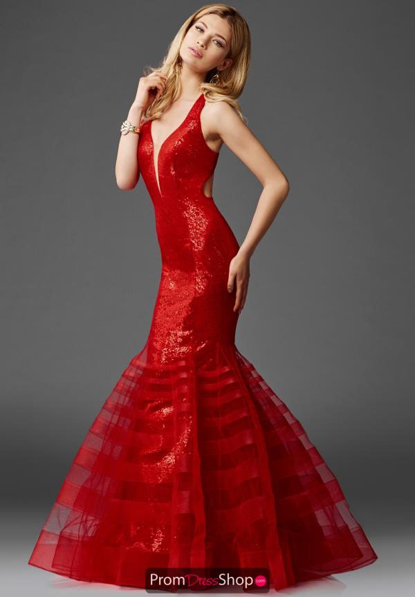 Clarisse Sequins Red Dress 4951