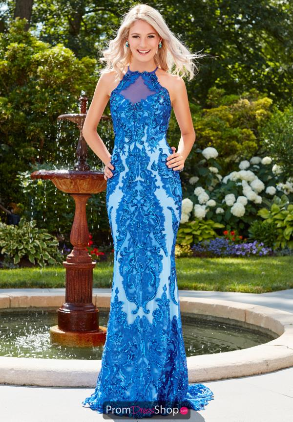 Clarisse Fitted Blue Dress 4963