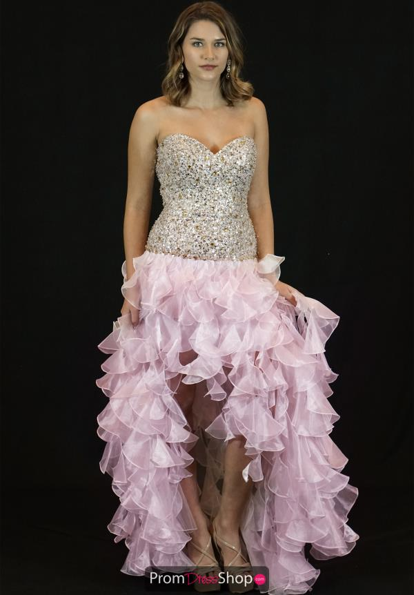 Sherri Hill High Low Beaded Dress 2463