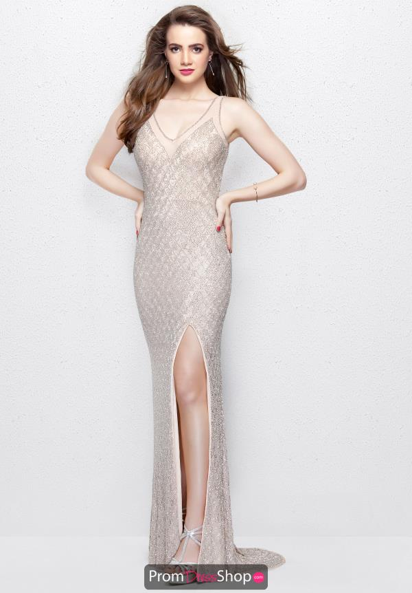 Primavera V- Neckline Beaded Dress 3017
