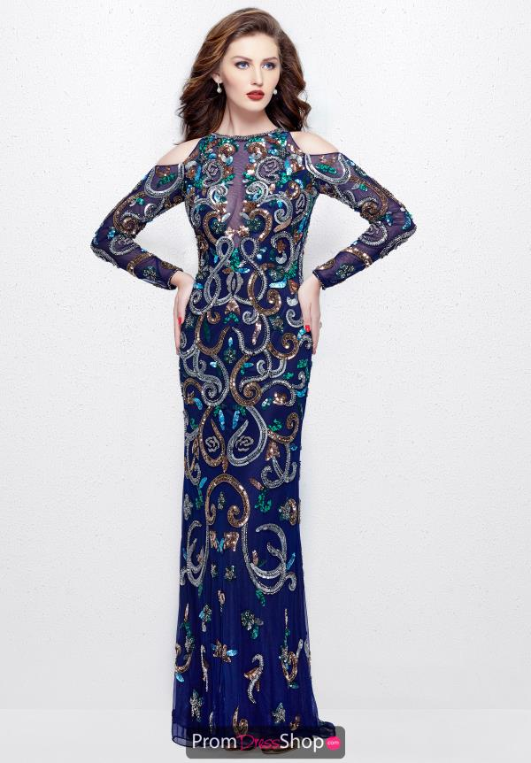 Primavera Beaded Sleeved Dress 3044