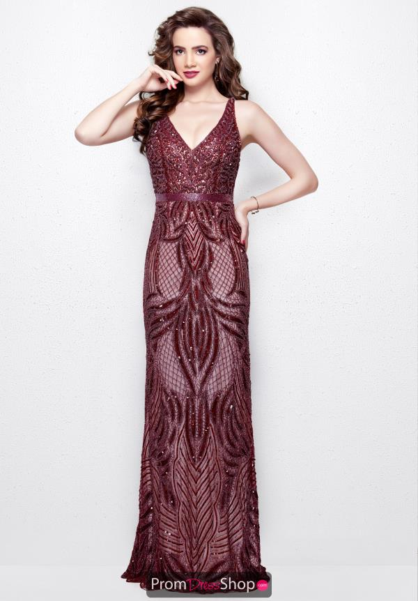 Primavera V- Neckline Beaded Dress 3061