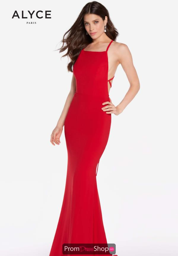 Alyce Paris Sexy Back Fitted Dress 60001