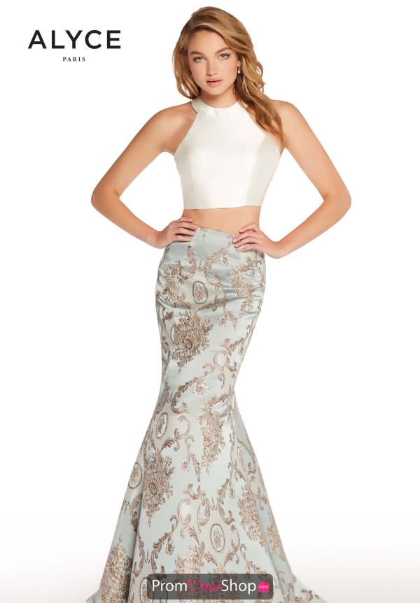 Alyce Paris High Neckline Mermaid Dress 60120