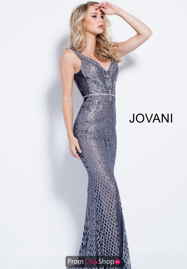 Jovani V- Neckline Fitted Dress 55819