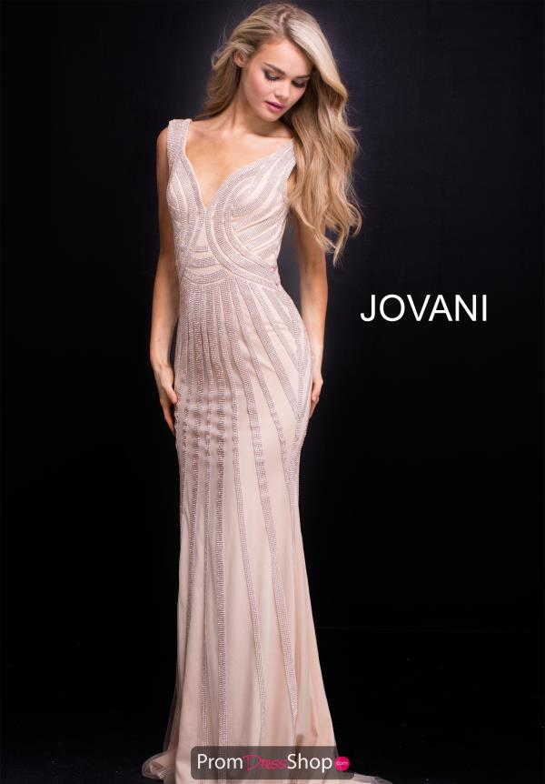 Jovani Beaded Long Dress 55926