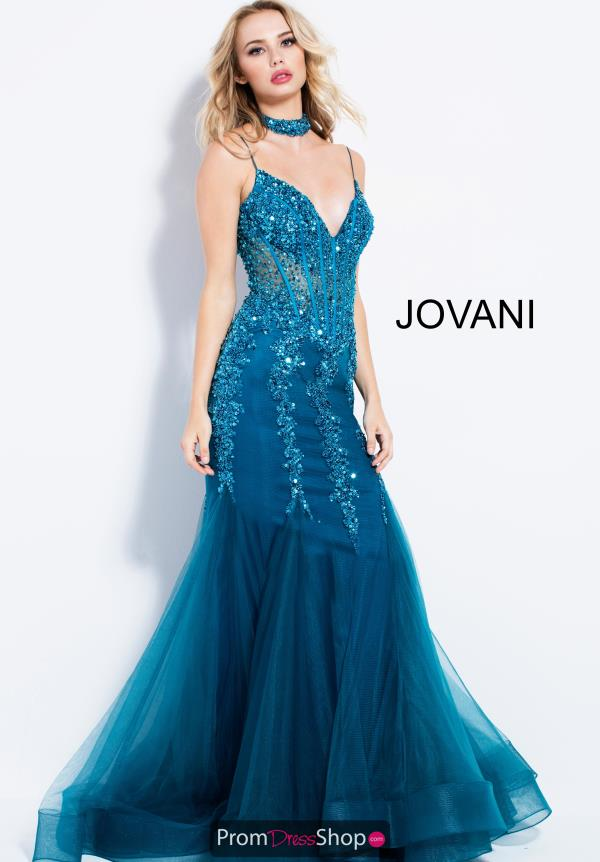 Jovani V- Neckline Mermaid Dress 56032