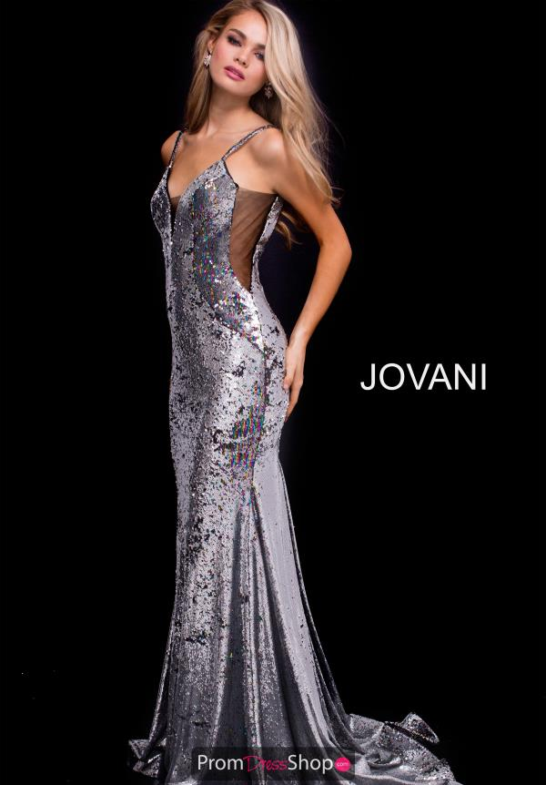 Jovani Sexy V- Neckline Dress 56897