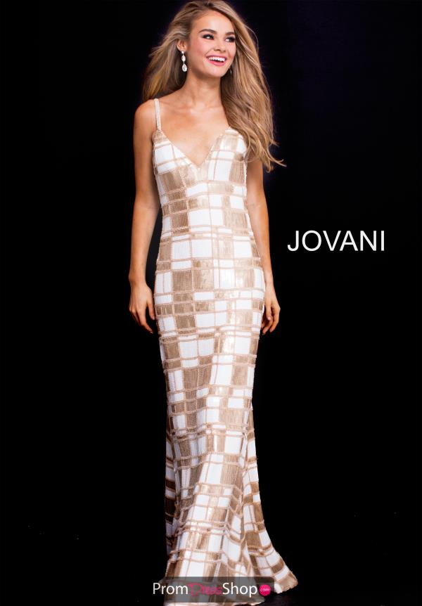 Jovani Long Sequins Dress 57125