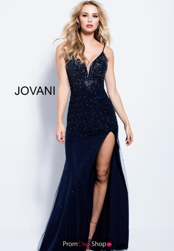 Jovani V- Neckline Fitted Dress 57270