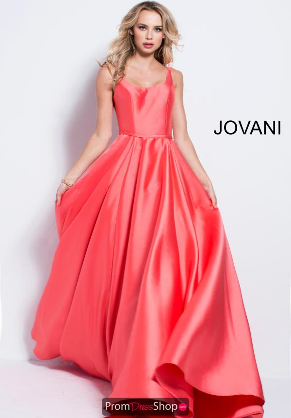 Jovani Long Zipper Back Dress 57452