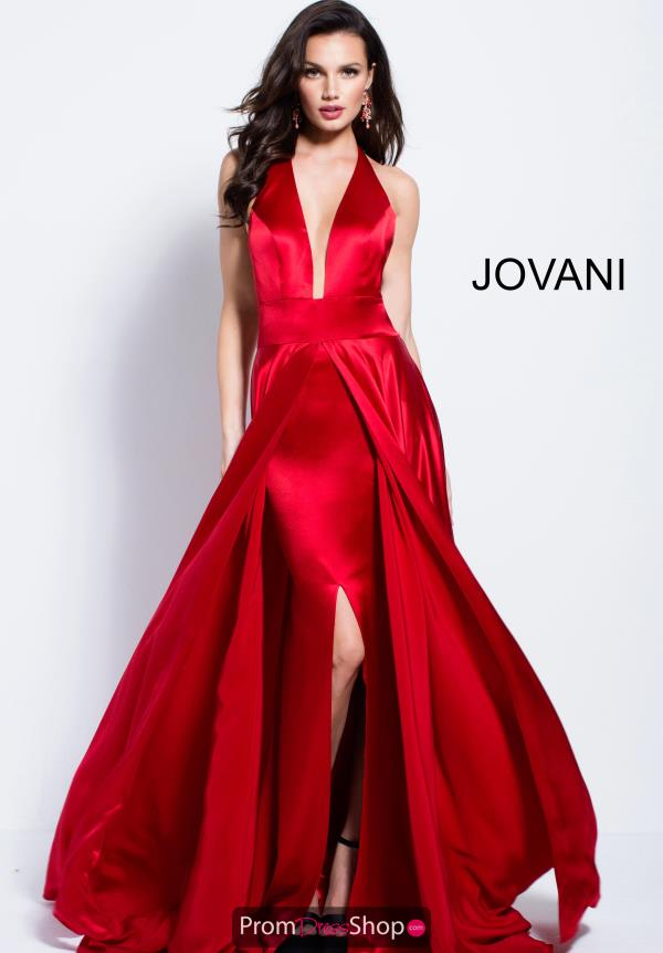 Jovani Halter Top Satin Dress 57537