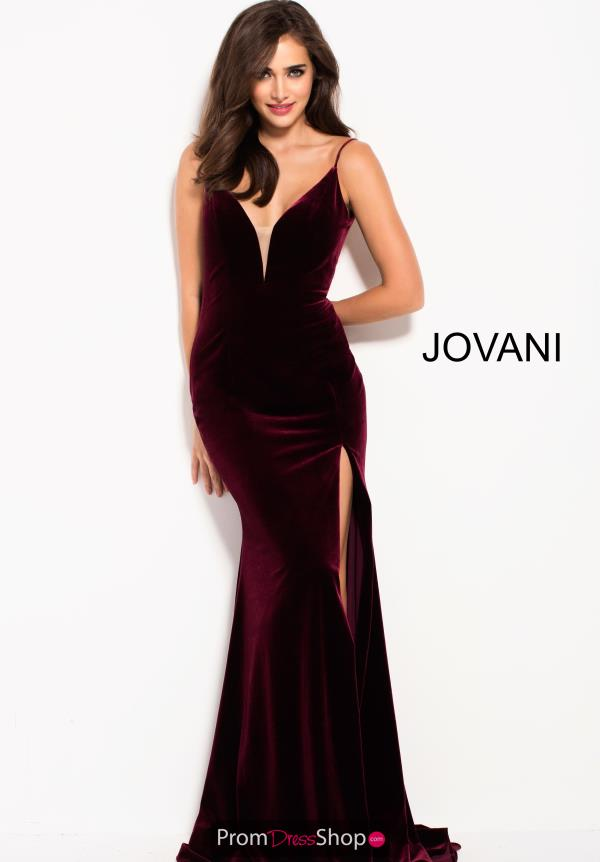 Jovani Long Velvet Dress 57898