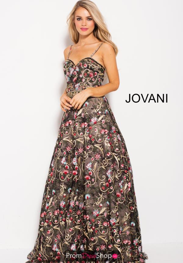 Jovani Black A Line Dress 57973