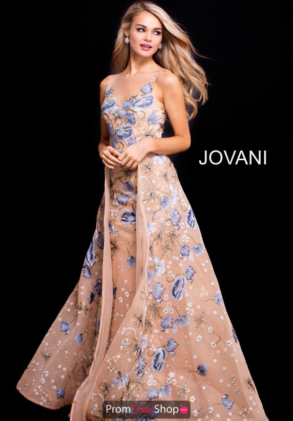 Jovani Gold A Line Dress 57978