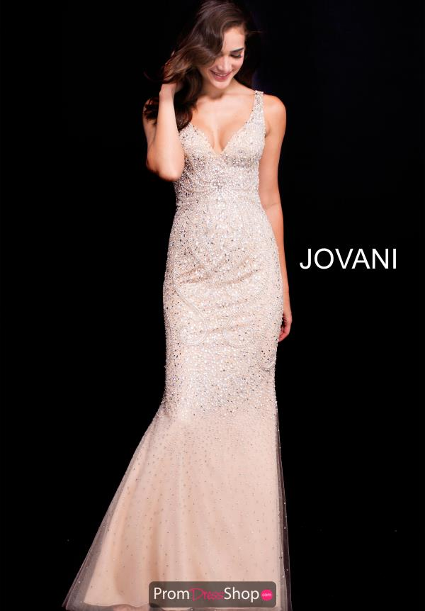 Jovani Long Lace Dress 58026