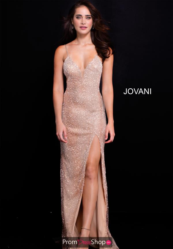 Jovani V- Neckline Beaded Dress 58506