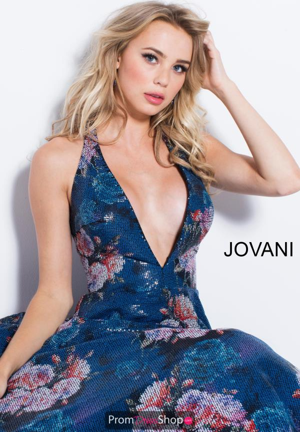 Jovani V- Neckline A Line Dress 58646