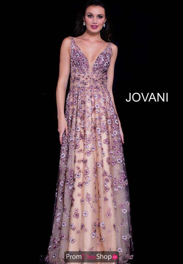 Jovani V- Neckline A Line Dress 58649