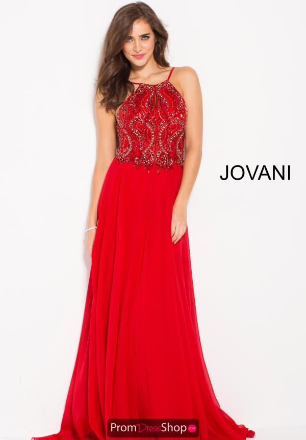 Jovani Long Chiffon Dress 59076