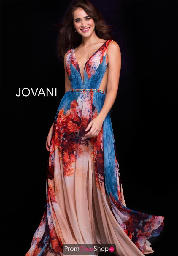 Jovani Long Chiffon Dress 59406